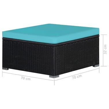 vidaXL Vrtna garnitura z blazinami 9-delna poli ratan modra[11/12]
