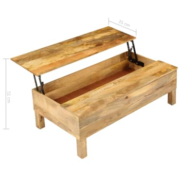 vidaXL Kavos staliukas, 110x55x35 cm, mango medienos masyvas[17/22]