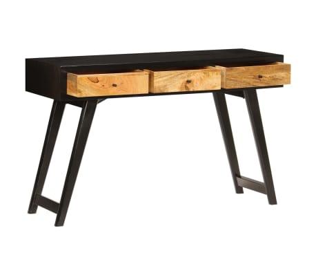 vidaXL Skrivebord heltre mango 120x40x76 cm[3/14]