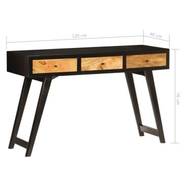 vidaXL Skrivebord heltre mango 120x40x76 cm[11/14]