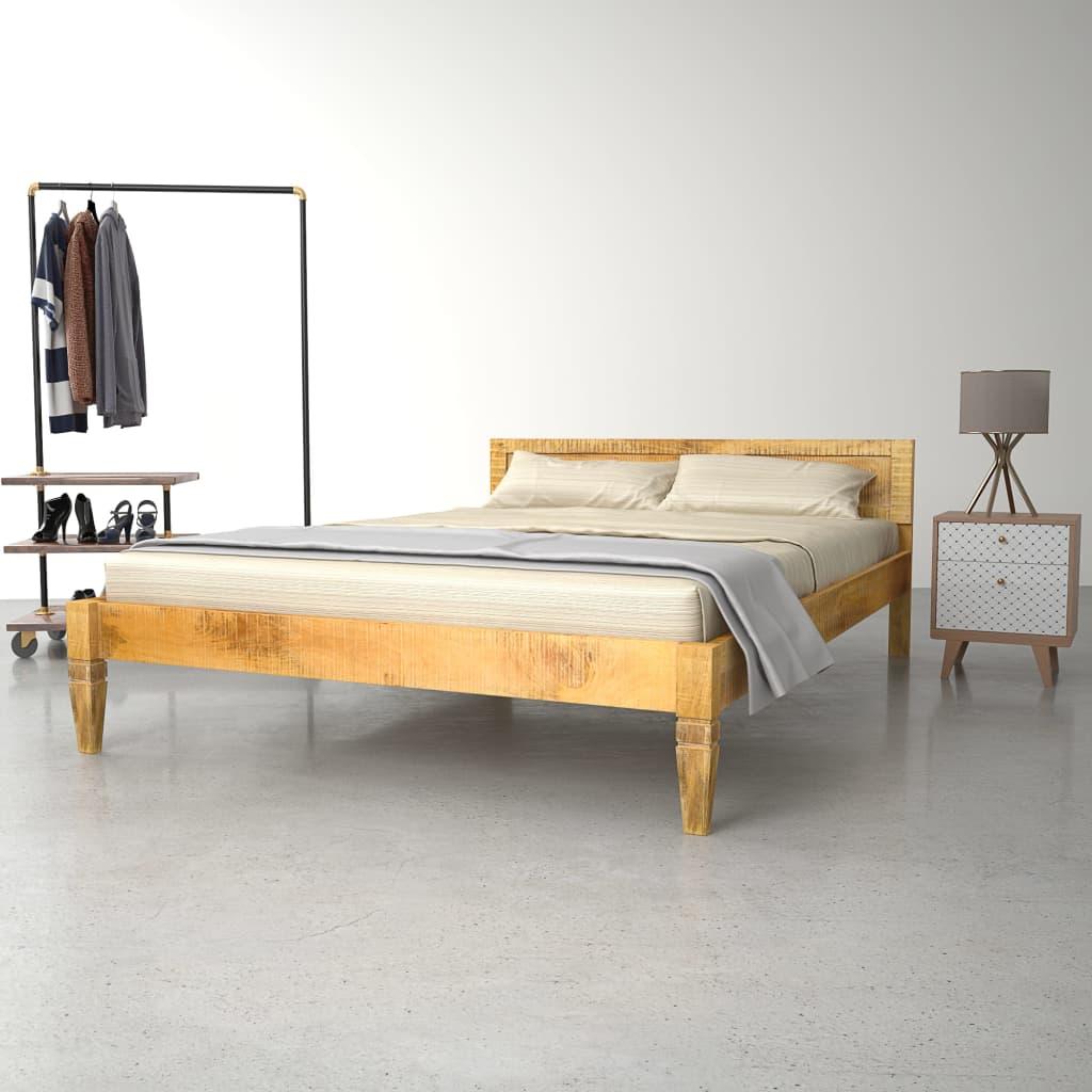 vidaXL Cadru de pat, 180 x 200 cm, lemn masiv de mango poza 2021 vidaXL