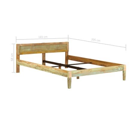 vidaXL Cadru de pat, 160 x 200 cm, lemn masiv de mango[16/16]
