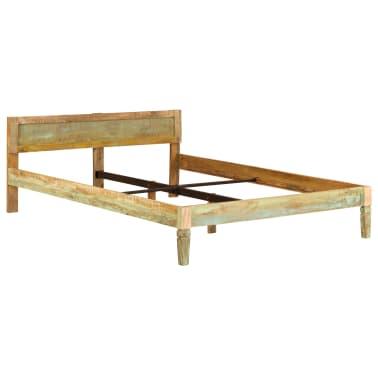 vidaXL Cadru de pat, 160 x 200 cm, lemn masiv de mango[2/16]