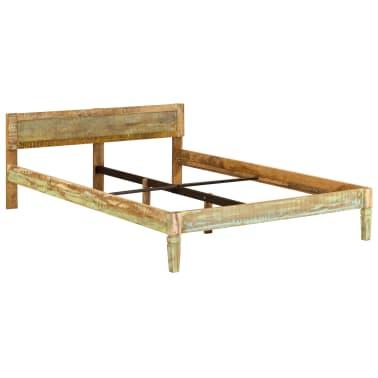 vidaXL Cadru de pat, 160 x 200 cm, lemn masiv de mango[15/16]