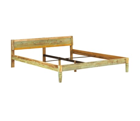 vidaXL tömör mangófa ágykeret 180 x 200 cm[12/15]