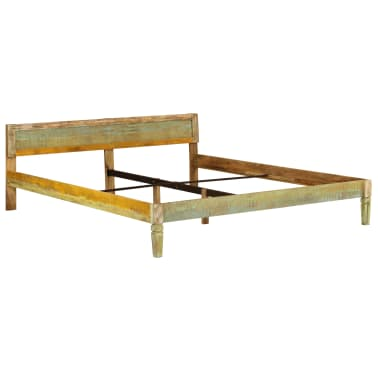 vidaXL Bed Frame Solid Mango Wood 180x200 cm 6FT Super King[2/15]