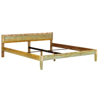 vidaXL Bed Frame Solid Mango Wood 180x200 cm 6FT Super King[13/15]