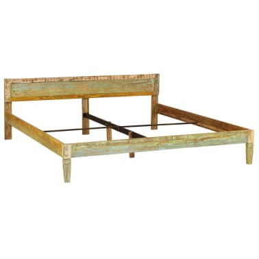 vidaXL Bed Frame Solid Mango Wood 180x200 cm 6FT Super King[14/15]