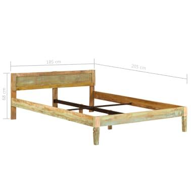 vidaXL tömör mangófa ágykeret 180 x 200 cm[15/15]