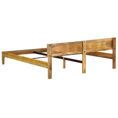 vidaXL tömör mangófa ágykeret 180 x 200 cm[5/15]