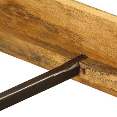 vidaXL tömör mangófa ágykeret 180 x 200 cm[9/15]
