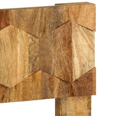 vidaXL Cadre de lit Bois de manguier massif 160x200 cm[6/14]