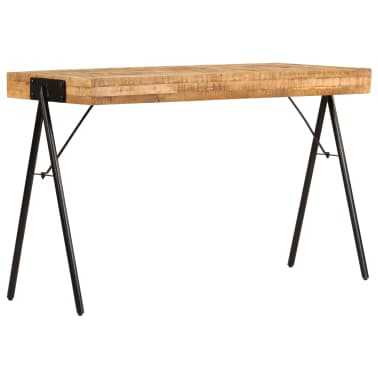 vidaXL Schreibtisch Massivholz Mango 118 x 50 x 75 cm[3/13]