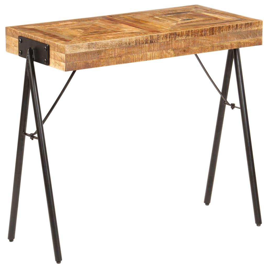 vidaXL Τραπέζι Κονσόλα 80 x 40 x 75 εκ. από Μασίφ Ξύλο Μάνγκο