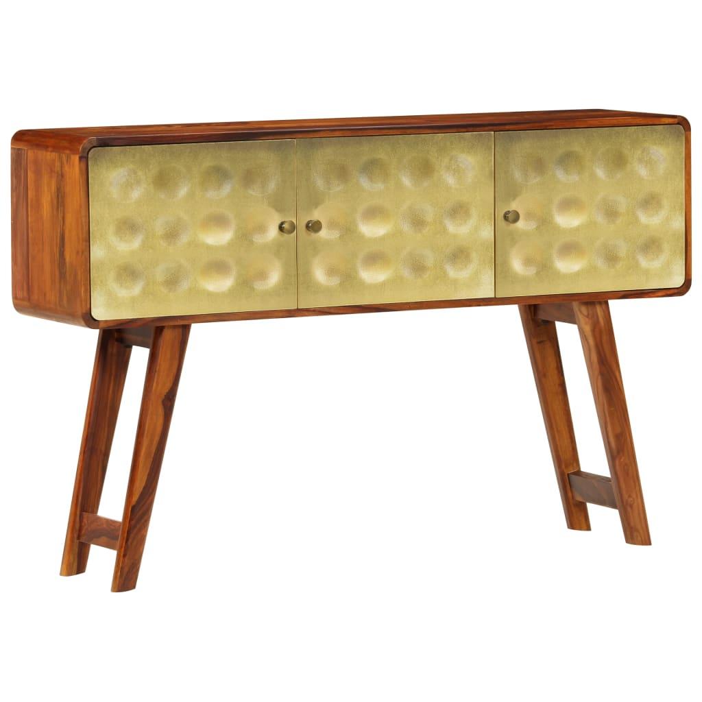 Ta szafka w stylu retro posiada dekoracyjny, złoty nadruk z przodu i wprowadzi powiew luksusu do Twojego domu. Może ona być również używana jako szafka konsolowa lub szafka do przedpokoju.
