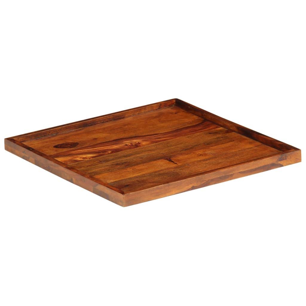 vidaXL Tavă de servit, 50 x 50 cm, lemn masiv de sheesham vidaxl.ro