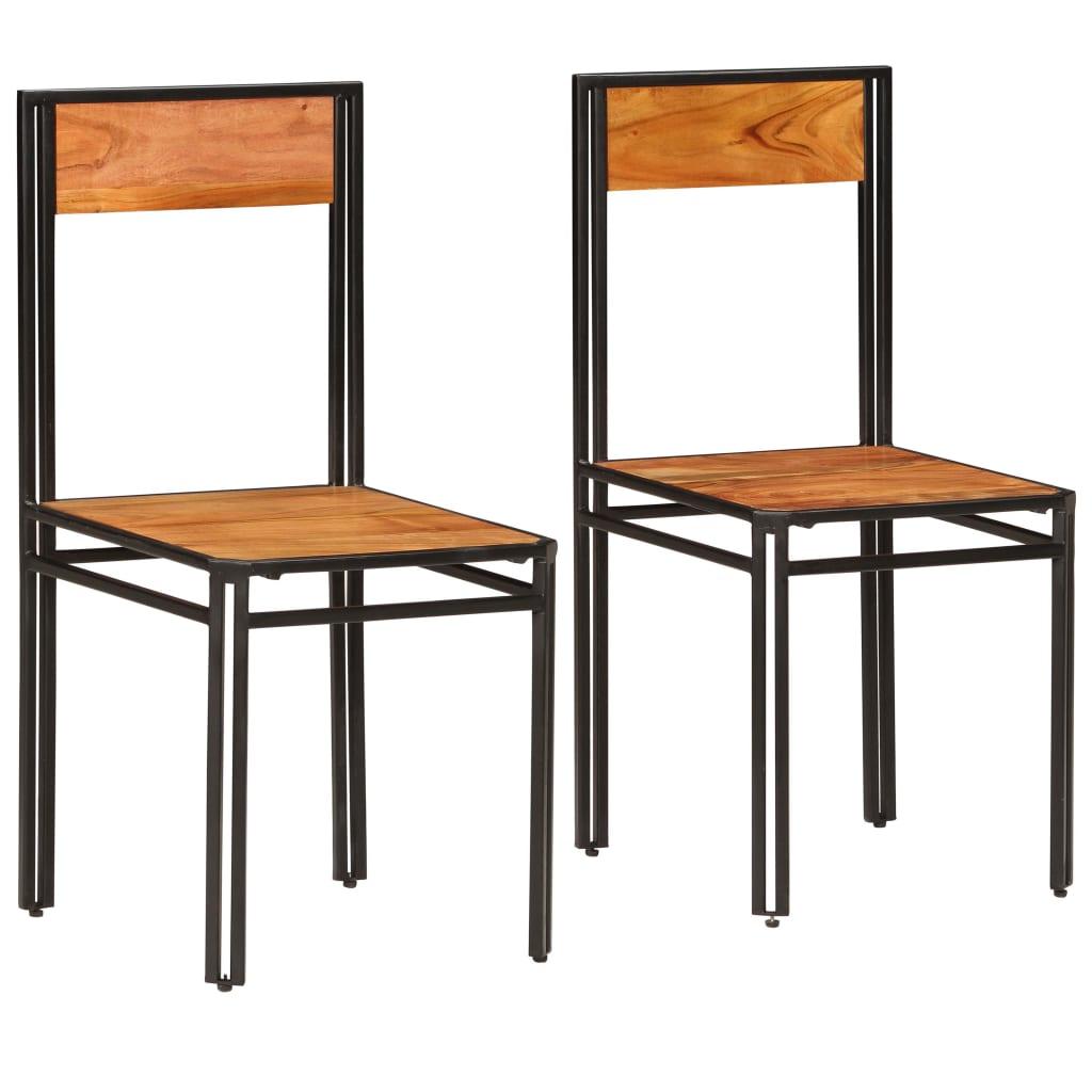 vidaXL spisebordsstole 2 stk. massivt akacietræ