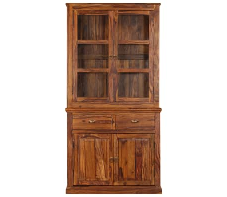 vidaXL Armoire à vitrine Bois de Sesham massif 100x70x200 cm[2/16]