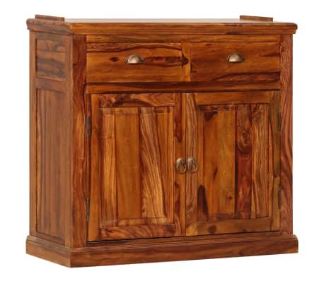 vidaXL Armoire à vitrine Bois de Sesham massif 100x70x200 cm[4/16]