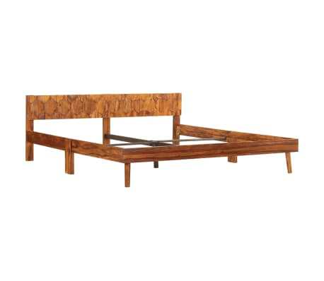 vidaXL Cadru de pat, 180 x 200 cm, lemn masiv de sheesham[2/16]