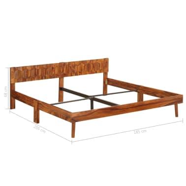 vidaXL Cadru de pat, 180 x 200 cm, lemn masiv de sheesham[11/16]