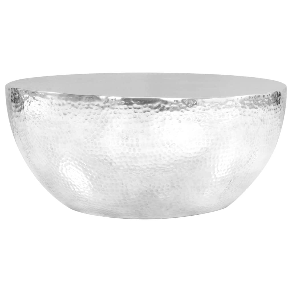 vidaXL Konferenční stolek stříbrný 70 x 30 cm vyklepávaný hliník
