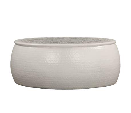 vidaXL Konferenční stolek bílý 70 x 30 cm tlučený hliník[2/6]