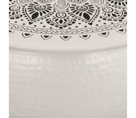 vidaXL Konferenční stolek bílý 70 x 30 cm tlučený hliník[5/6]