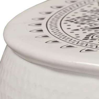 vidaXL Konferenční stolek bílý 70 x 30 cm tlučený hliník[3/6]