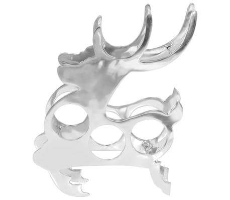 Vidaxl 33x14x54 Massief Online Cm Zilverkleurig Wijnrek Aluminium XZiuOPk