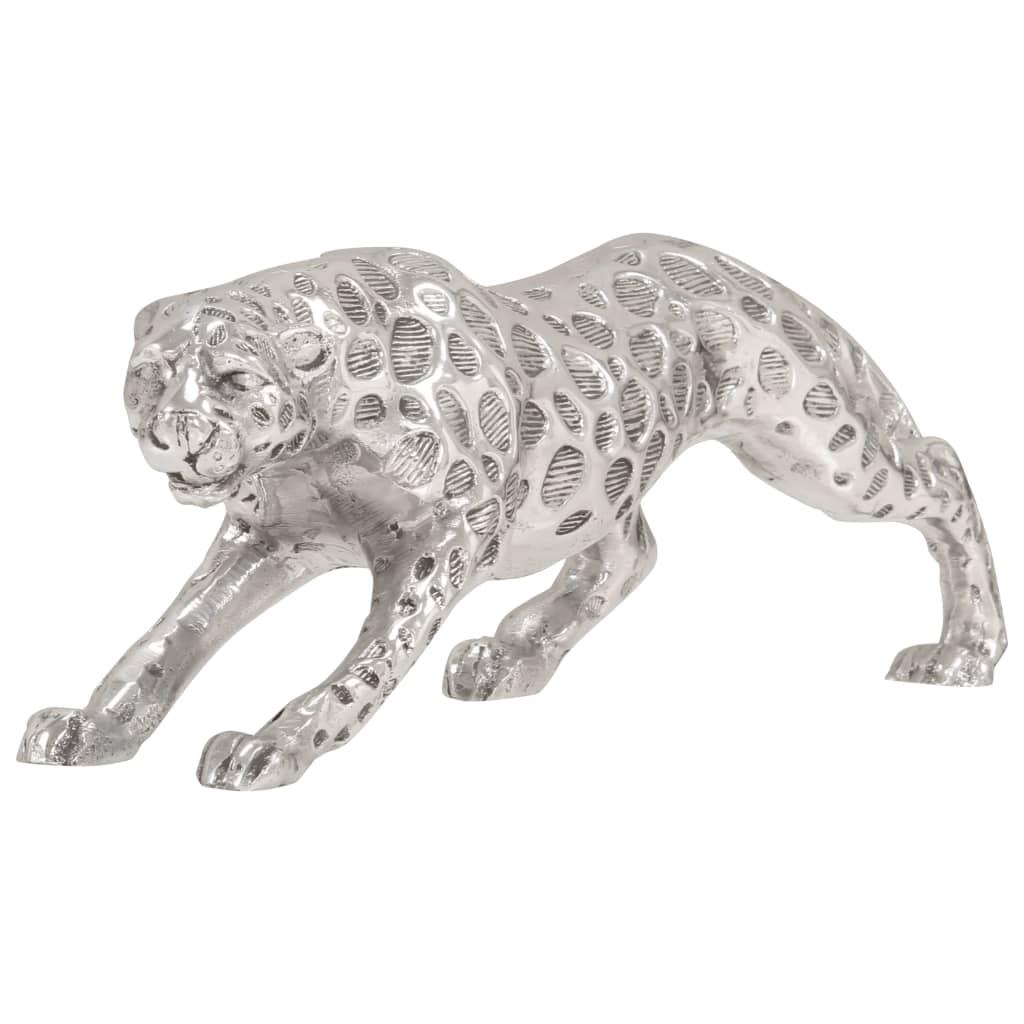 Afbeelding van vidaXL Jachtluipaard beeld 50x10x14 cm massief aluminium zilver