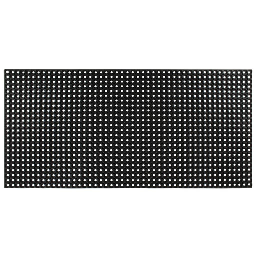vidaXL Rubbermat 23 mm 100x150 cm