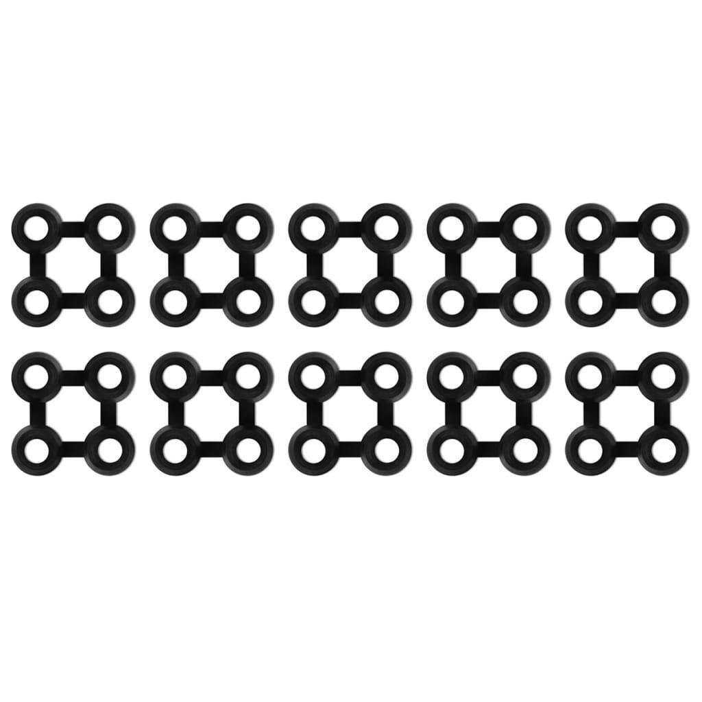 vidaXL Mattekoblinger 10 stk gummi svart