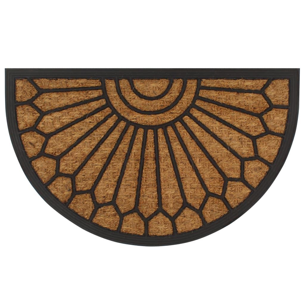 Rohožka z kokosových vláken a gumy polokruhová 45 x 75 cm