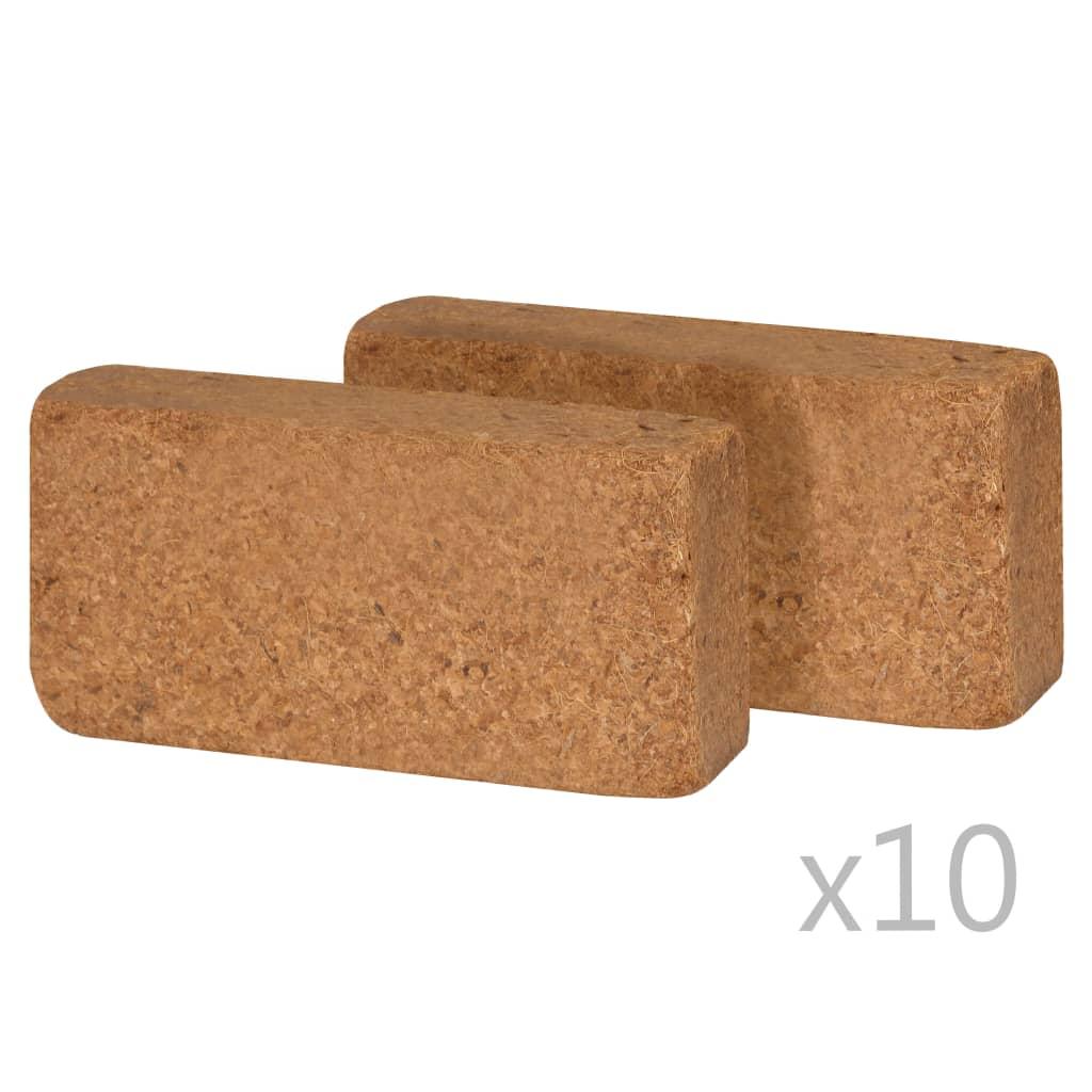 Afbeelding van vidaXL Kokosvezelblokken 650 g 20x10x4 cm 20 st