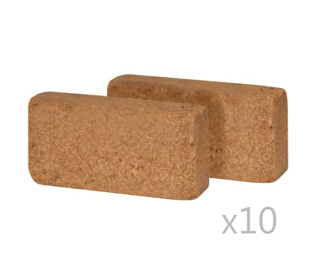 vidaXL Kostki włókna kokosowego, 20 szt., 650 g, 20 x 10 x 4 cm[2/2]