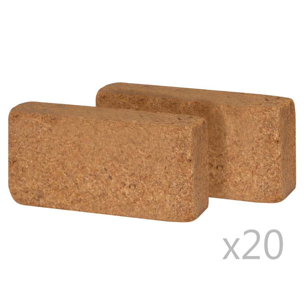 Afbeelding van vidaXL Kokosblokken 650 g 20x10x4 cm 40 st