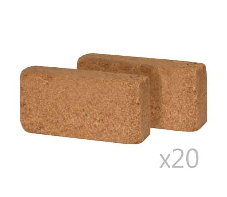 vidaXL Block i kokosfiber 40 st 650 g 20x10x4 cm