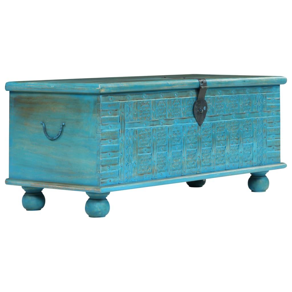 Hoiukast, toekast mangopuidust, sinine, 100 x 40 ..