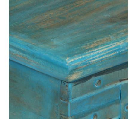 vidaXL Coffre de rangement Bois de manguier massif 100x40x41 cm Bleu[7/15]