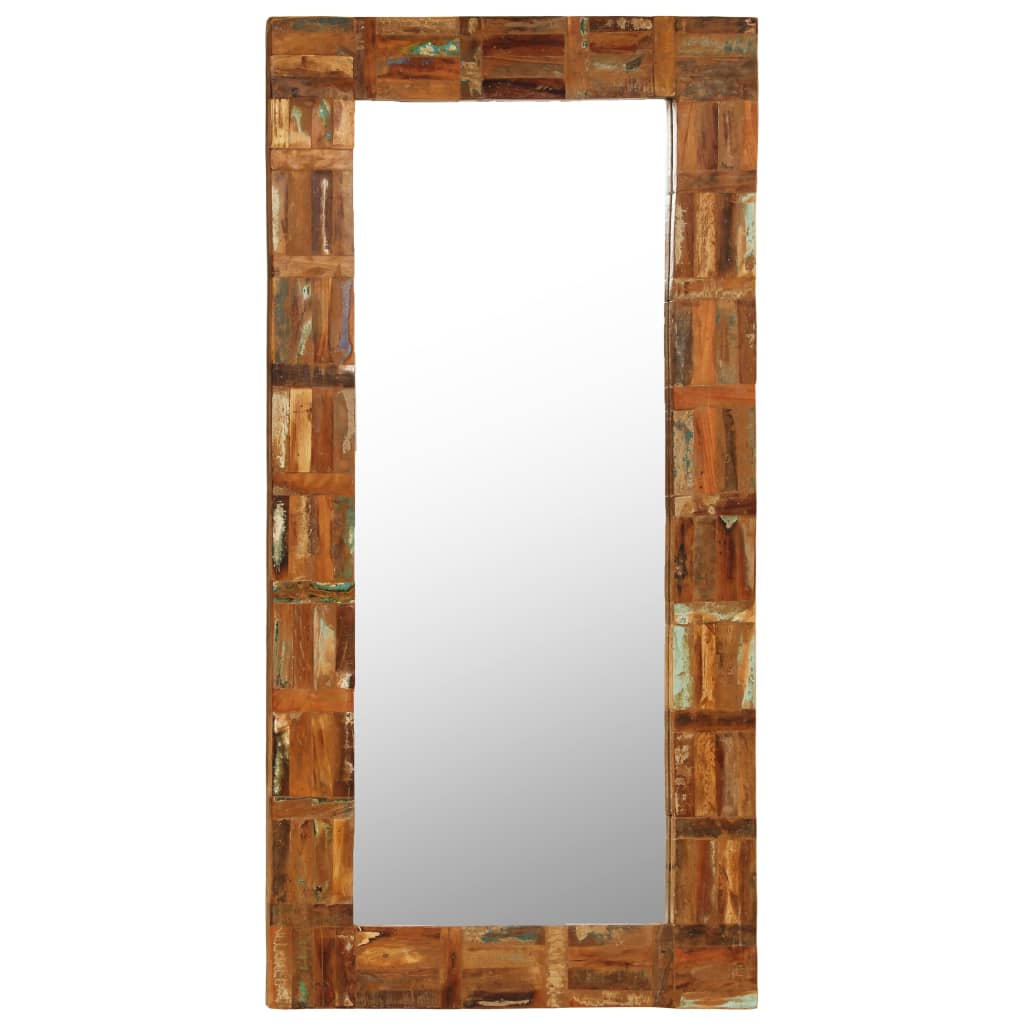 vidaXL Wandspiegel 60x120 cm massief gerecycled hout