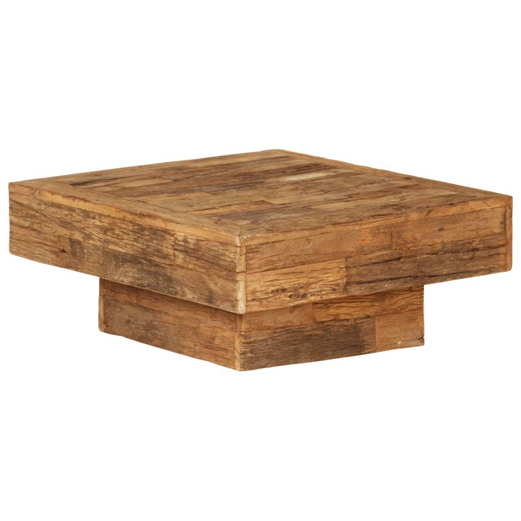 vidaXL Măsuță de cafea, 70 x 70 x 30 cm, lemn masiv reciclat poza vidaxl.ro