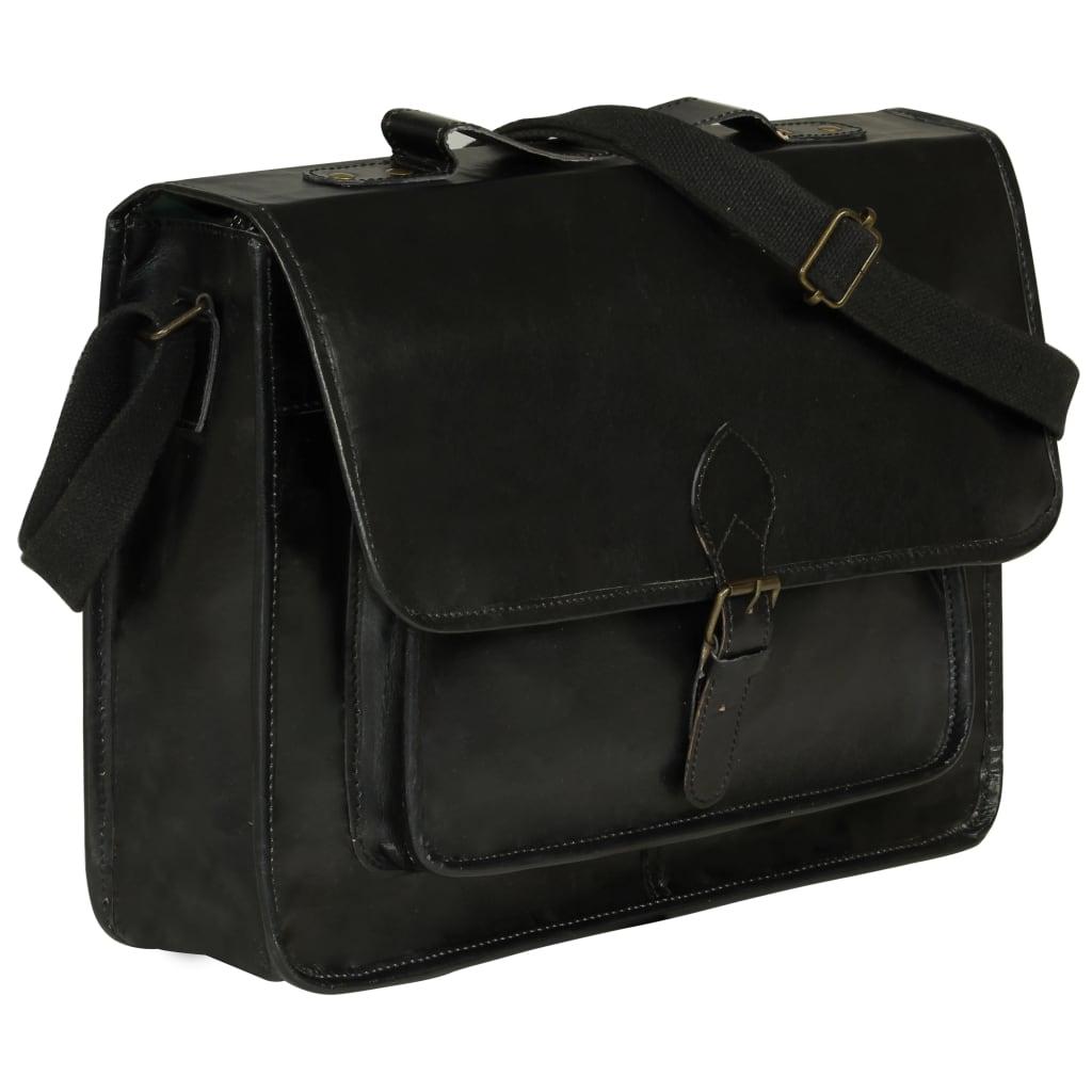 Taška na notebook černá pravá kůže