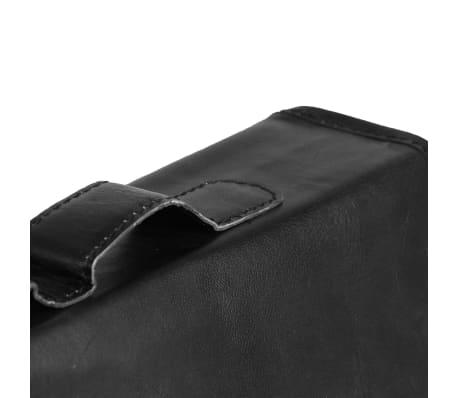 vidaXL Krepšys nešiojamam kompiuteriui, juodas, tikra oda[5/6]