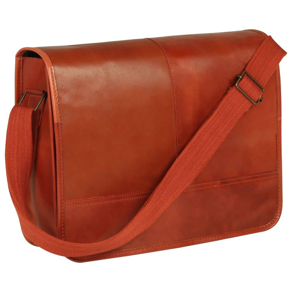 Messenger taška přes rameno bronzová pravá kůže