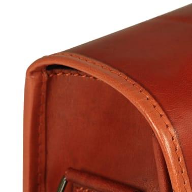 vidaXL budtaske ægte læder gyldenbrun[6/6]
