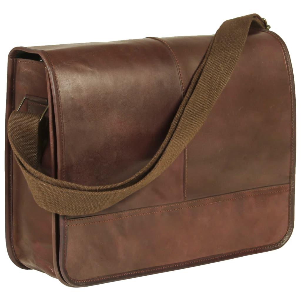 Messenger taška přes rameno hnědá pravá kůže