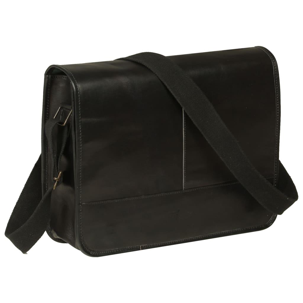 Messenger taška přes rameno černá pravá kůže
