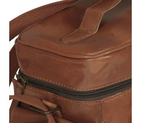 vidaXL Kameratasche für DSLR-Kameras Braun Echtleder[6/6]