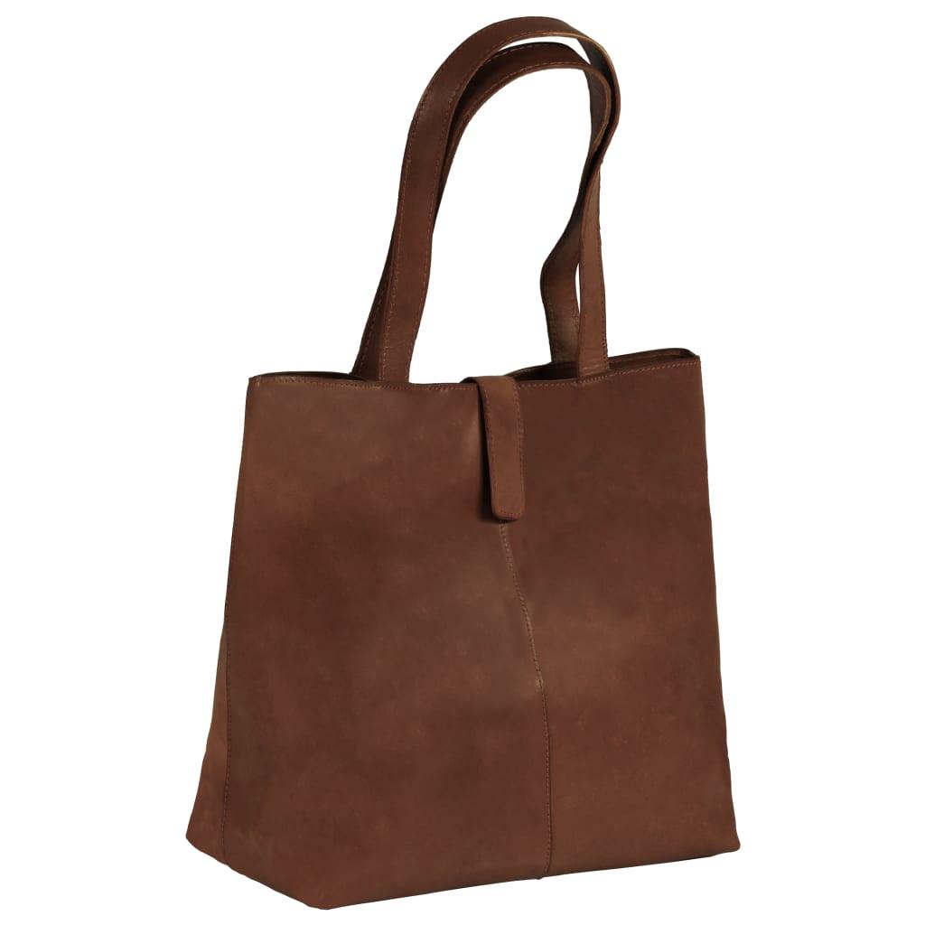 Dámská nákupní taška hnědá pravá kůže